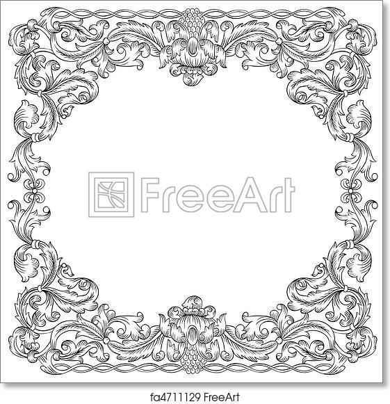 Free art print of Floral ornament frame. Floral ornament frame ...