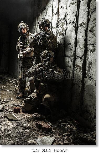 Free art print of Army Ranger in field Uniforms