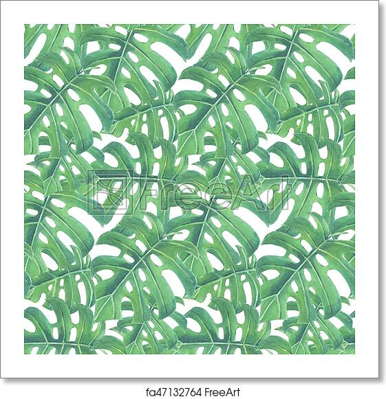 Free Art Print Of Tropical Leaves Pattern Tropical Seamless Pattern Fascinating Tropical Leaves Pattern