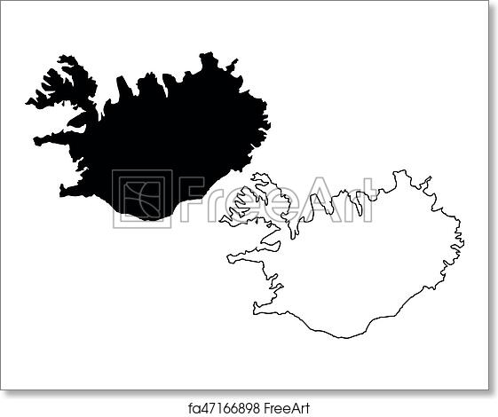 Free art print of Iceland map vector