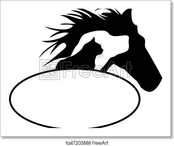 Free Art Print Of Horse Dog Cat Logo Freeart Fa47203888