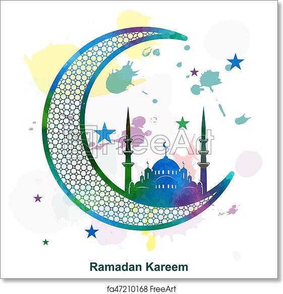 graphic relating to Ramadan Cards Printable named Totally free artwork print of Ramadan Kareem Arabic calligraphy