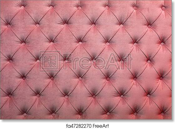Free Art Print Of Pink Capitone Tufted Fabric Upholstery Texture