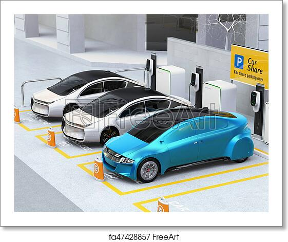 Free art print of Autonomous vehicles in parking lot for sharing
