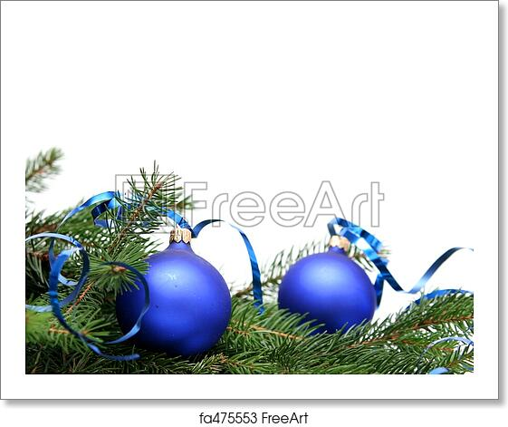 Christmas Bulbs.Free Art Print Of Blue Christmas Bulbs