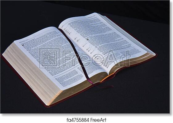 free art print of bible open on black background open bible opened