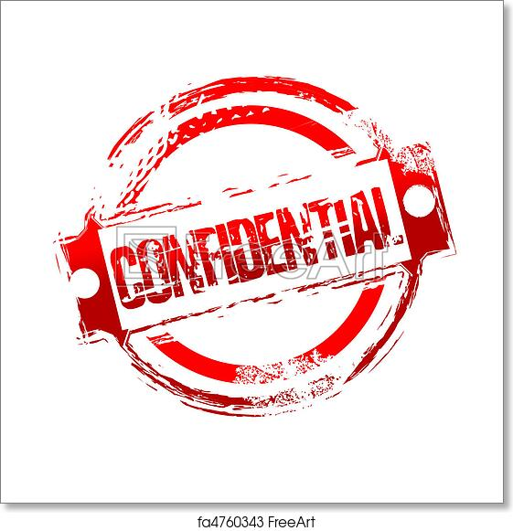 Illustration Of Grungy Confidential Stamp On Isolated Background