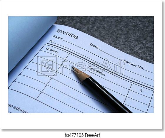 Aynax Free Invoice Template Pdf Free Art Print Of Blue Invoice Book Invoice Book With Pen  Canada Custom Invoice with Web Invoicing And Billing Excel Blue Invoice Book Grocery Receipt App
