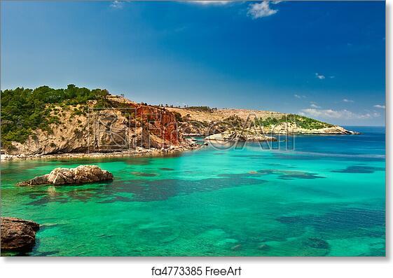 Free art print of Cala Xarraca, Ibiza Spain