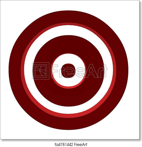 image relating to Printable Bullseye known as Absolutely free artwork print of A Bullseye
