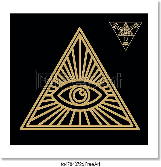 Free Art Print Of All Seeing Eye Or Radiant Delta