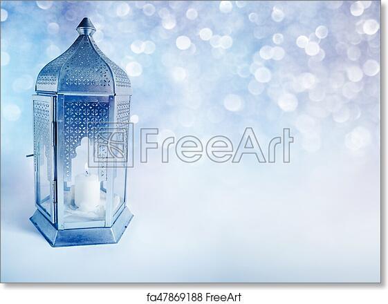 Free art print of ornamental arabic lantern with burning candle free art print of ornamental arabic lantern with burning candle glowing at night greeting card invitation for muslim community holy month ramadan kareem m4hsunfo