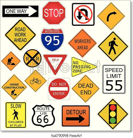 graphic about Printable Road Signs named Cost-free artwork print of Street Signs or symptoms