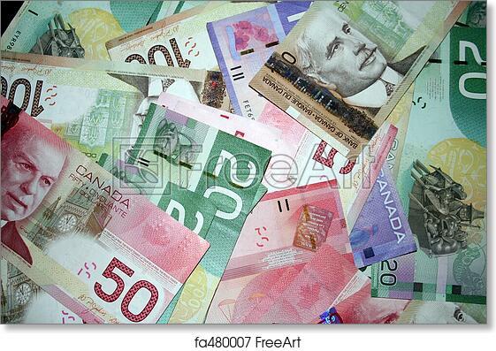 Free art print of Canadian Money