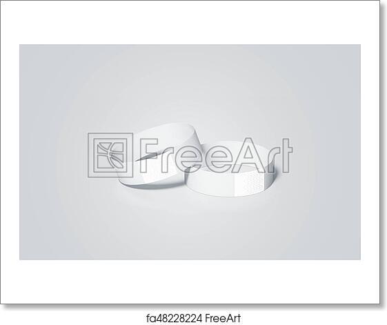 Free art print of Blank white paper wristbands mock ups, 3d rendering