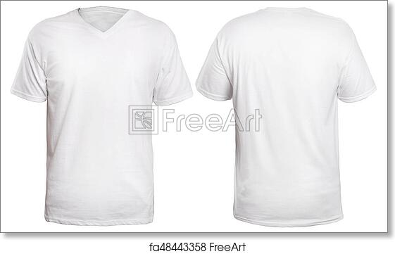 9c0cd06dbfb236 Free art print of White V-Neck Shirt Mock up. Blank v-neck shirt ...