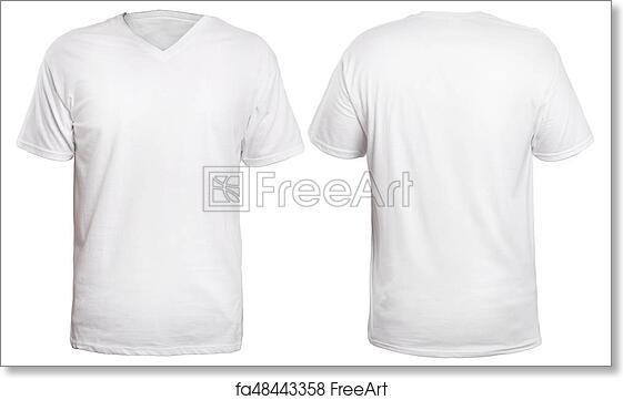 00d595a535 Free art print of White V-Neck Shirt Mock up. Blank v-neck shirt ...