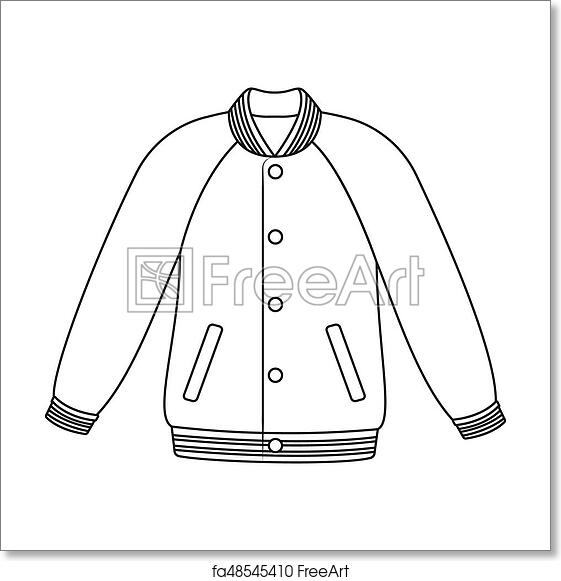 image regarding Printable Jacket known as Absolutely free artwork print of Uniform baseball jacket. Baseball solitary icon inside of determine design and style raster, bitmap brand inventory example net.