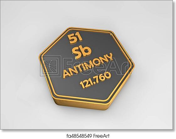 Free Art Print Of Antimony Sb Chemical Element Periodic Table