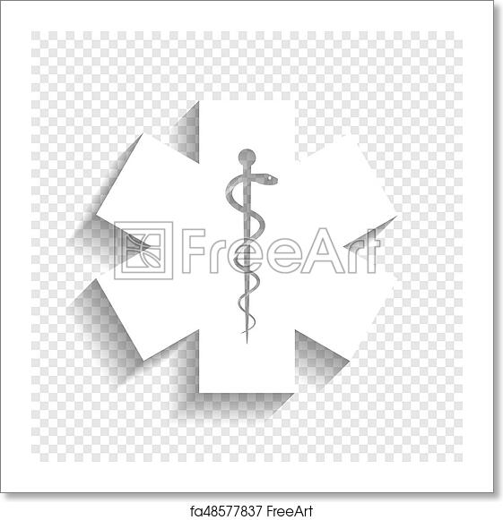 Free Art Print Of Medical Symbol Of The Emergency Or Star Of Life