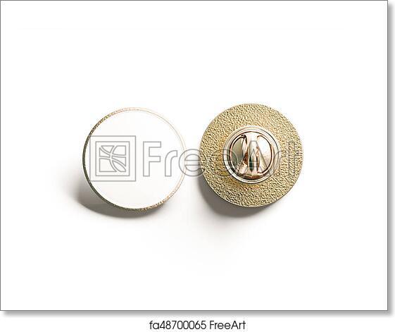Logo Mockup Circular White Sign: Free Art Print Of Blank White Round Gold Lapel Badge Mock