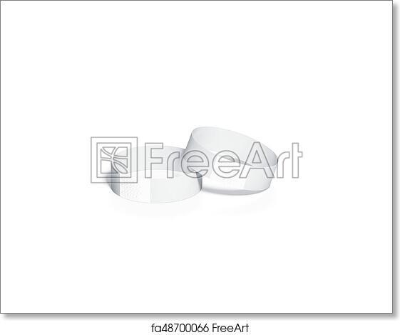 Free art print of Blank white paper wristbands mockups,