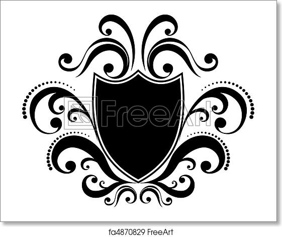 Blank Ornamental Emblem With Classic Design Elements Use For Logo Frame Vector Format Very Easy To Edit Individual Objects