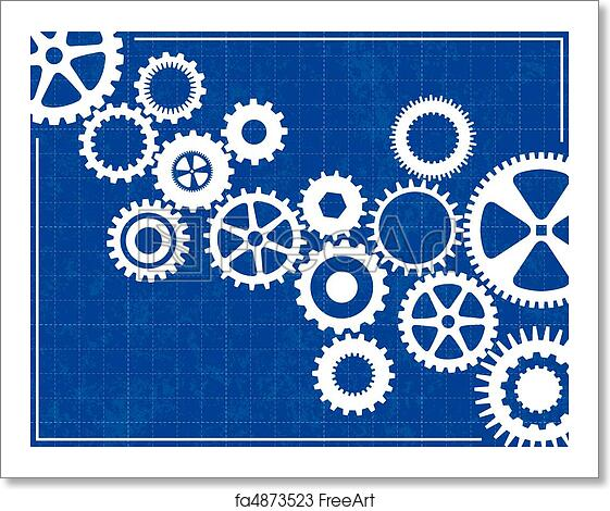 Free art print of blueprint background with cogs freeart fa4873523 free art print of blueprint background with cogs malvernweather Image collections