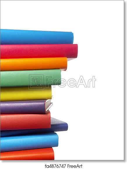 Free art print of Colorful books stack education. Close up of stack ...