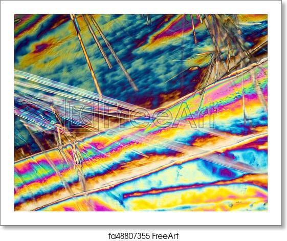 Free art print of Sodium carbonate microcrystals