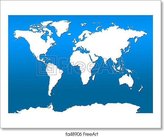 Free Art Print Of World Map Simple World Map Freeart Fa48906