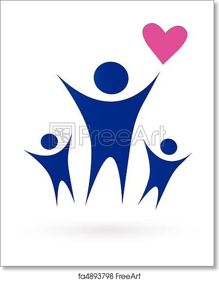 Free Art Print Of Family Health And Community Icons Vector