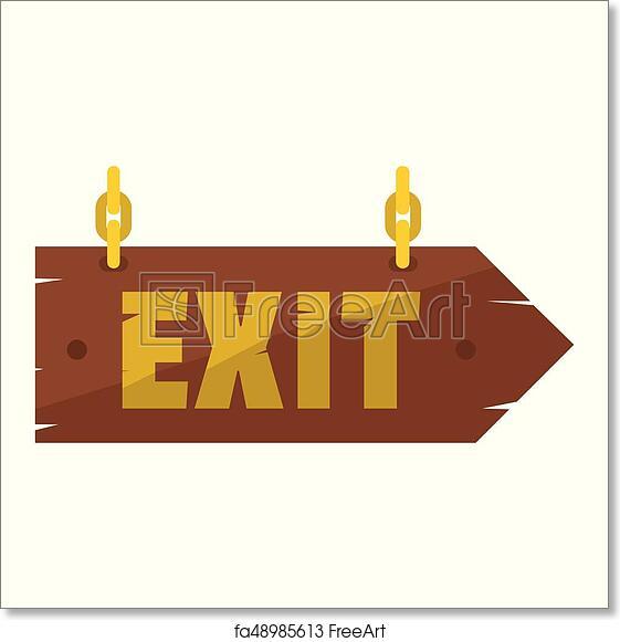 free art print of wooden signboards wood arrow sign set empty