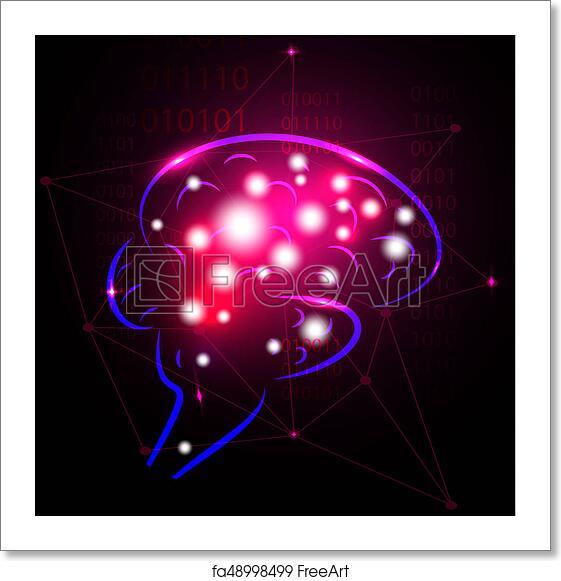 Free Art Print Of Abstract Human Brain