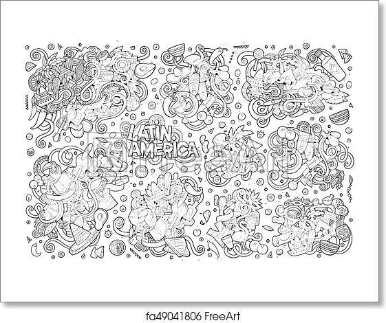 Free Art Print Of Sketchy Vector Hand Drawn Doodle Latin American