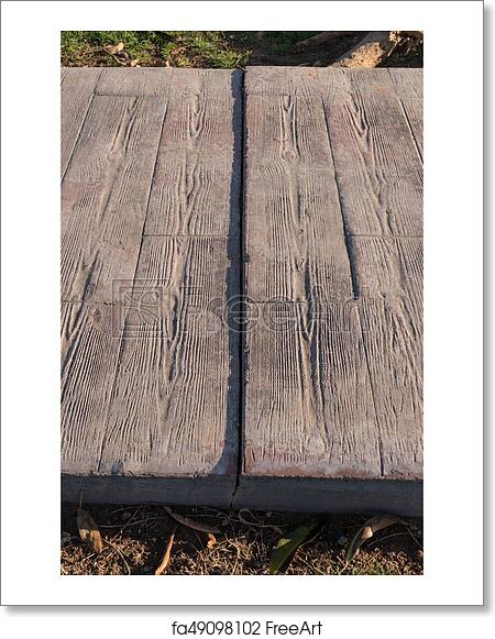 Free art print of Expansion joint working at stamped concrete pavement,
