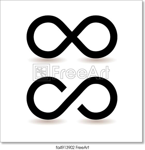 Free Art Print Of Infinity Symbol Two Infinity Symbols With Shadow