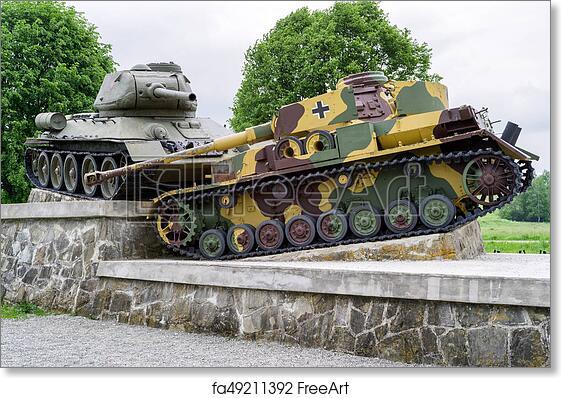 Free art print of World war II tank monument in Svidnik, Slovakia