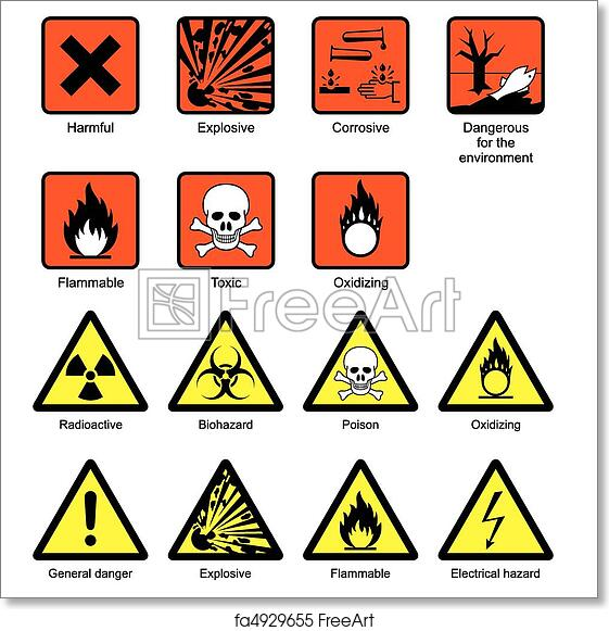 graphic about Free Printable Safety Signs referred to as No cost artwork print of Science Laboratory Stability Signs or symptoms