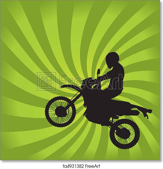 Free art print of Jumping Dirt Bike Silhouette