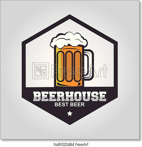 Free Art Print Of Craft Beer Logo Vintage Label For Brew House Or