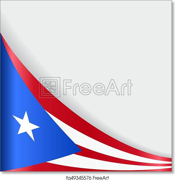 picture about Printable Puerto Rican Flag referred to as Absolutely free artwork print of Puerto Rican flag heritage. Vector instance.