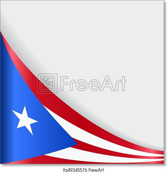 photograph about Printable Puerto Rican Flag known as Absolutely free artwork print of Puerto Rican flag history. Vector example.