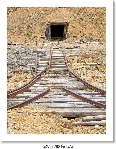 Free art print of Mining rail and shaft
