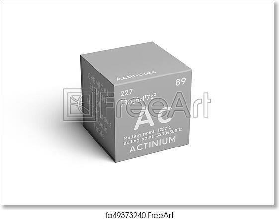 Free art print of Actinium  Actinoids  Chemical Element of Mendeleev's  Periodic Table