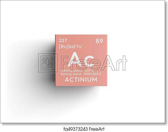 Free Art Print Of Actinium Actinoids Chemical Element Of