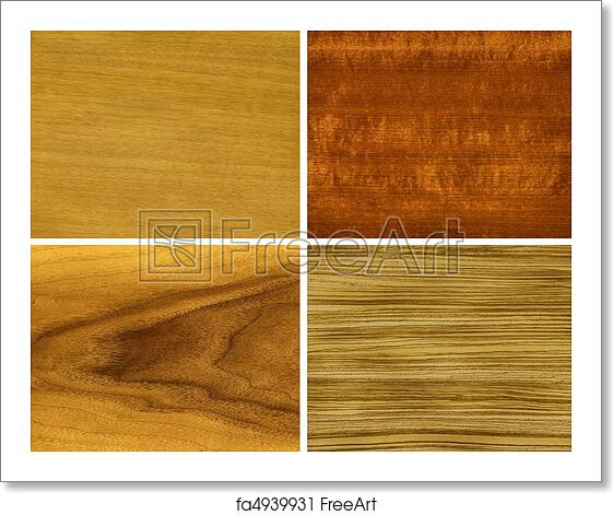 Free Art Print Of Wood Veneer Anegri Makore Teak Zebrano Wood