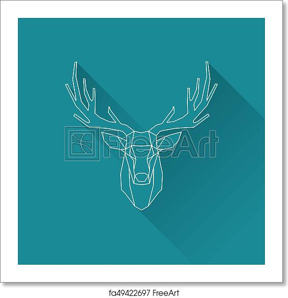 Free Art Print Of Deer Frame Invert Polygonal Illustration Of Deer Wireframe Invert Freeart Fa49422697
