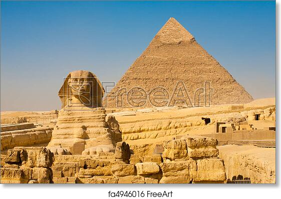 free art print of sphinx khafre giza pyramids classic the sphinx