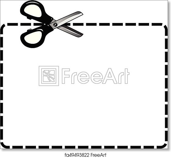 Free Art Print Of Blank Coupon Cutout Isolated Scissor Empty Coupon
